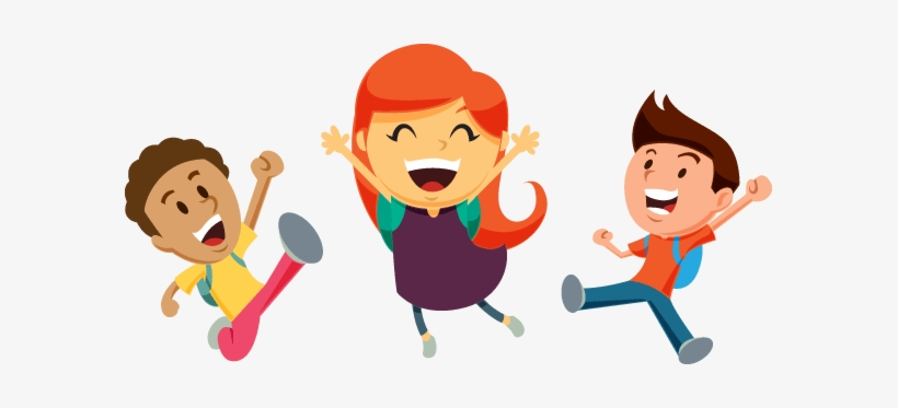 Cheer clipart child. Three kids cheering children