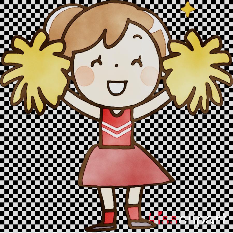 Cartoon drawing illustration . Cheer clipart child
