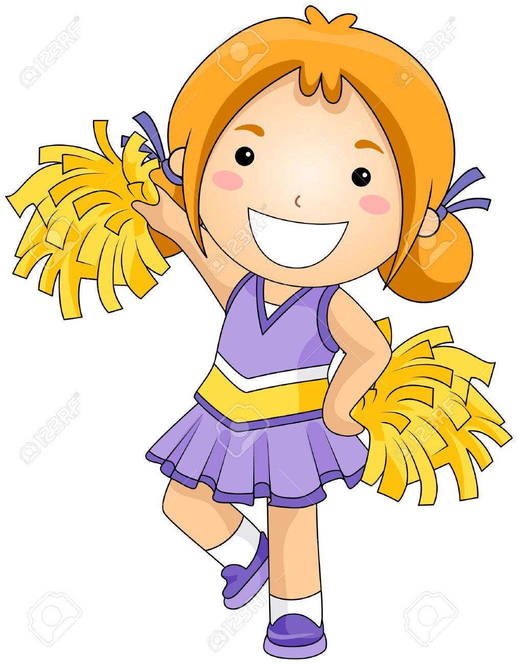 Girl . Cheer clipart child