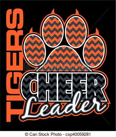 Cheer clipart clothes. Vector tigers cheerleader stock