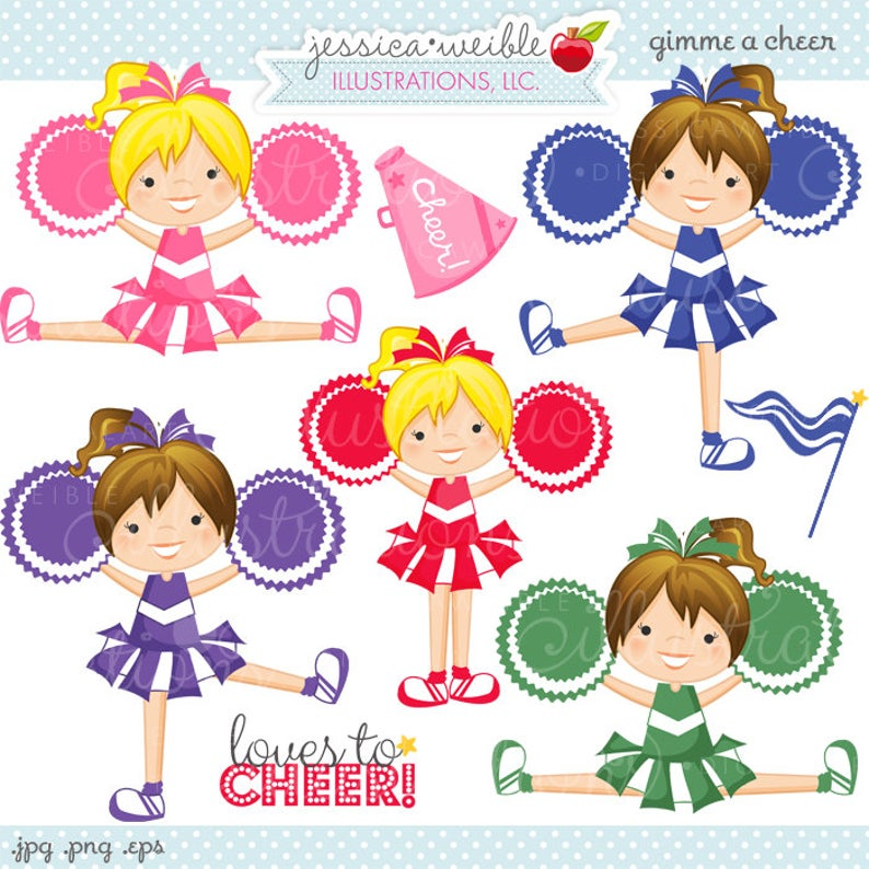 Gimme a digital commercial. Cheer clipart cute