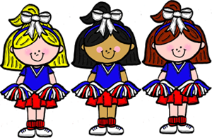 Cheerleaders about the club. Cheer clipart elementary