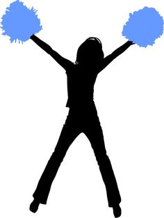 Cheer clipart flyer. Silhouette at getdrawings com