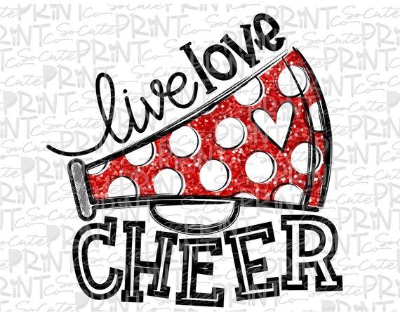Live love mom megaphone. Cheer clipart football