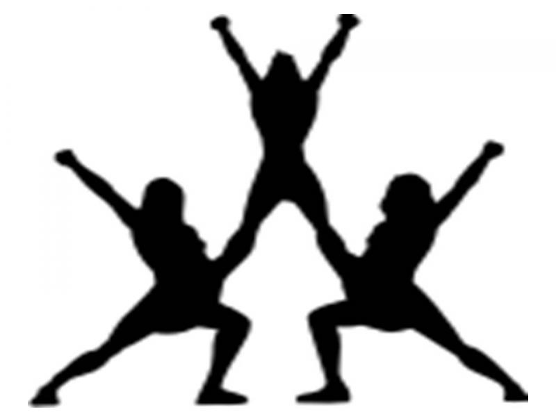 Cheer clipart gymnast. Stunt competition pencil and