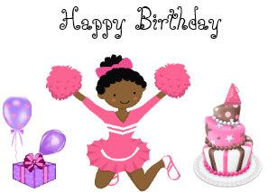 Cheer clipart happy birthday. Cheerleader cards zazzle