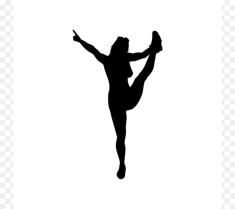 Cheer clipart heel stretch. Silhouette cheerleading download clip