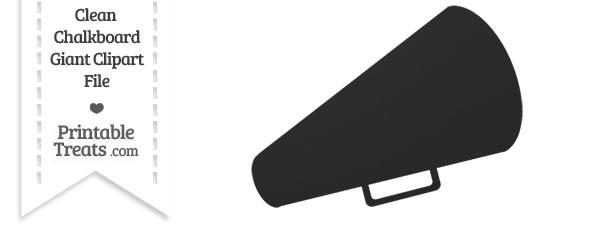 Cheer clipart megaphone. Clean chalkboard giant printable