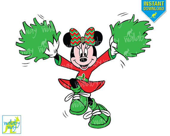 Items similar to disney. Cheer clipart minnie mouse