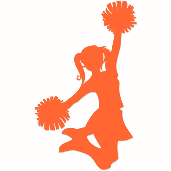 Silhouette at getdrawings com. Cheerleader clipart svg