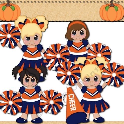Orange and cup craftsuprint. Blue clipart cheerleader