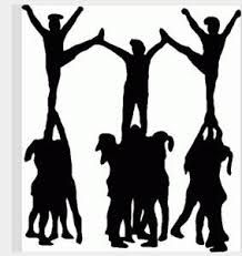Cheerleading google search and. Cheer clipart outline
