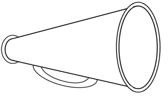 Megaphone cheerleading free images. Cheer clipart outline