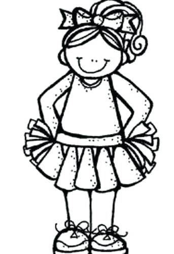 Cheerleader clipart outline. Free group megaphone png