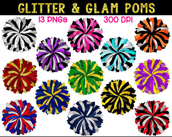 Poms svg etsy . Cheer clipart pom pom