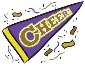 Cheer clipart purple. Squad parent meeting sheffield