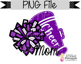 Cheer clipart purple. Etsy