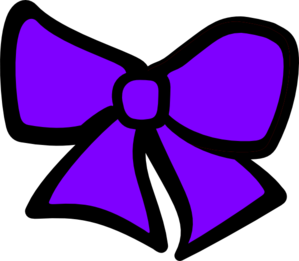 Bow clipart cheer bow. Purple