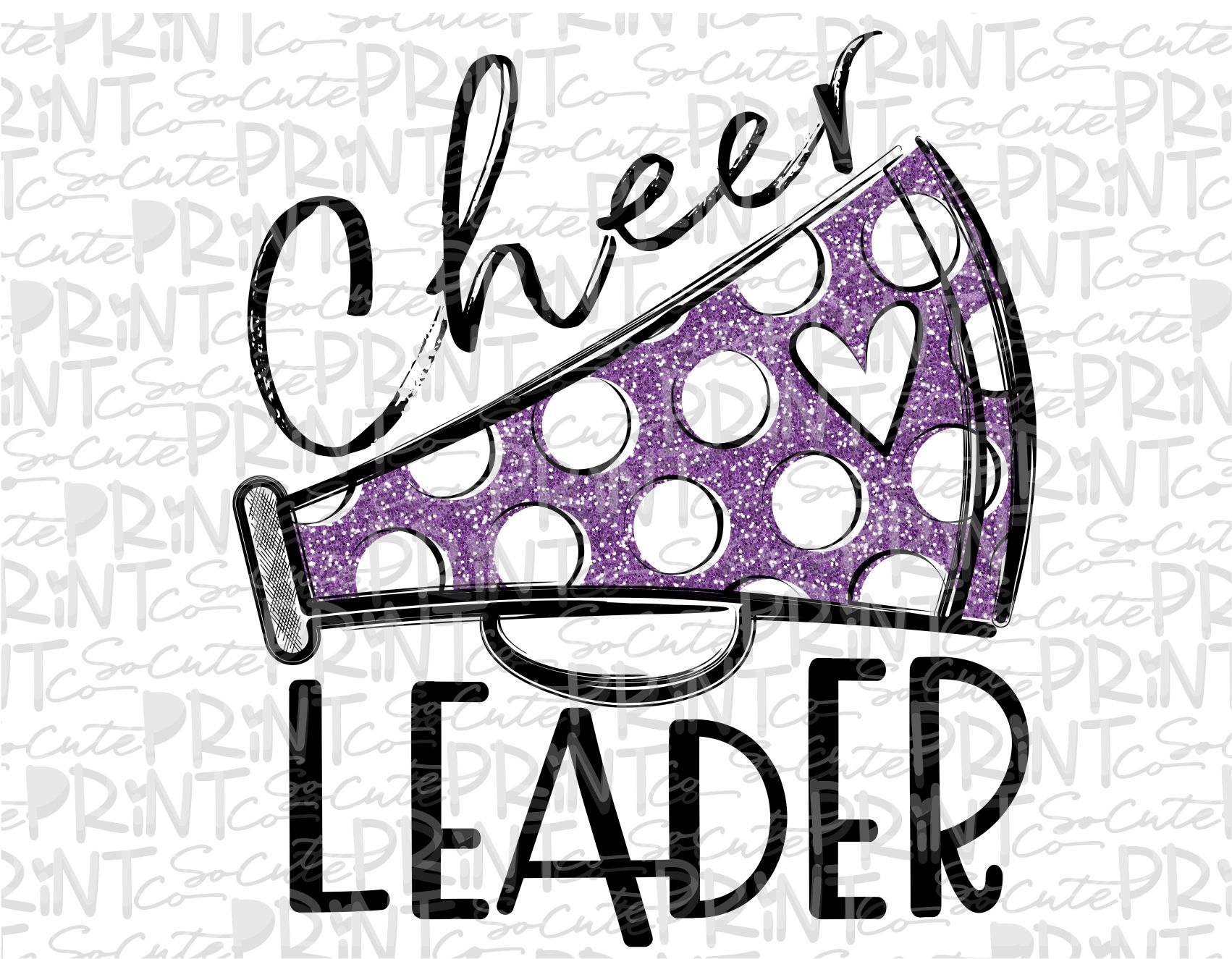 Leader glitter printable png. Cheer clipart purple