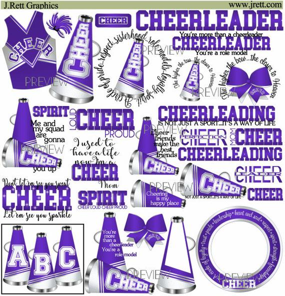 More colors graphics white. Cheer clipart purple