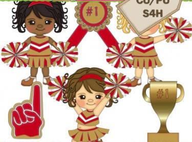 Cheerleaders gold meylah. Cheer clipart red