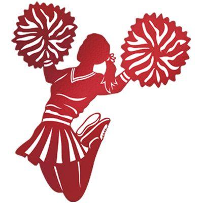 best cheerleading theme. Cheerleader clipart red blue