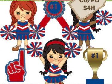 Cheerleader clipart red blue. Cheerleaders meylah community