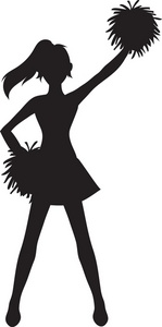 Cheerleading at getdrawings com. Cheer clipart silhouette