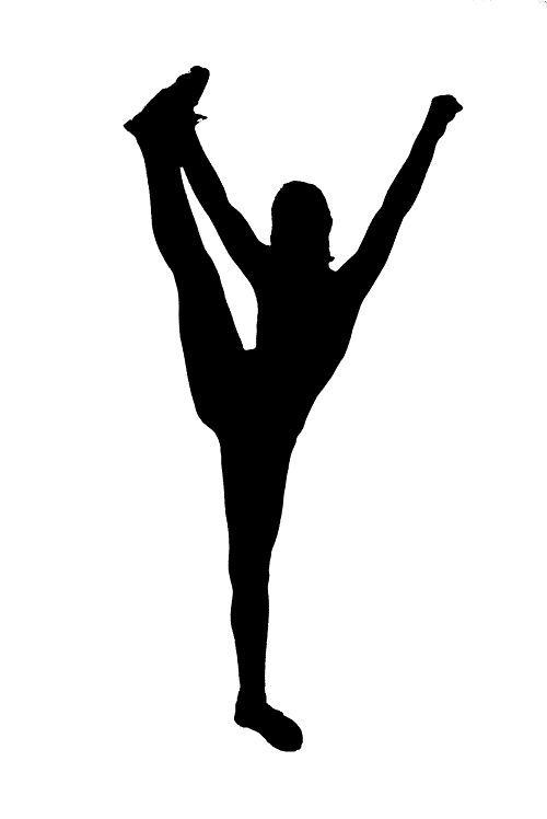 Cheer clipart silhouette. Competitive designs yahoo search