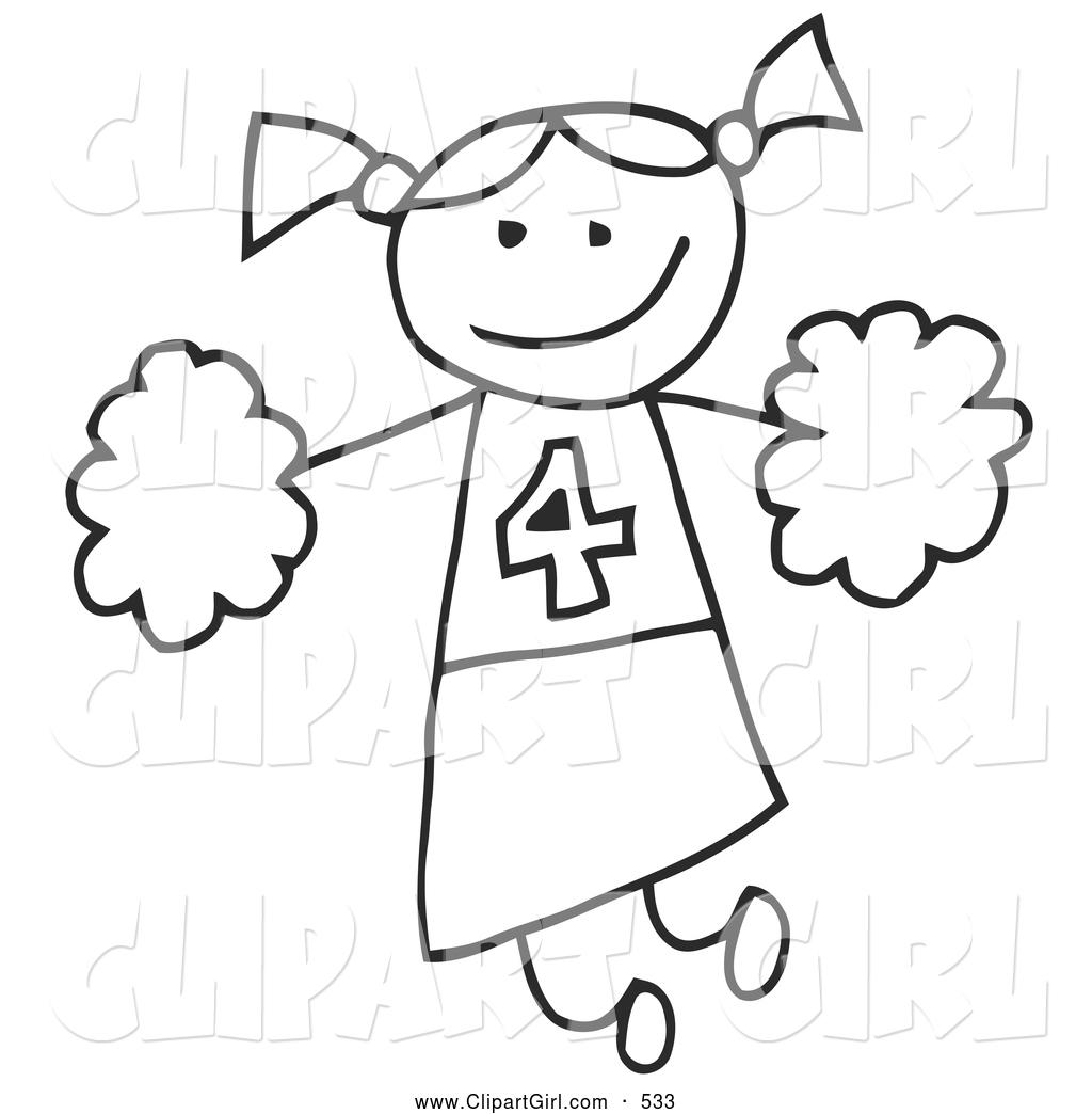 Cheer clipart stick figure. Clip art of a