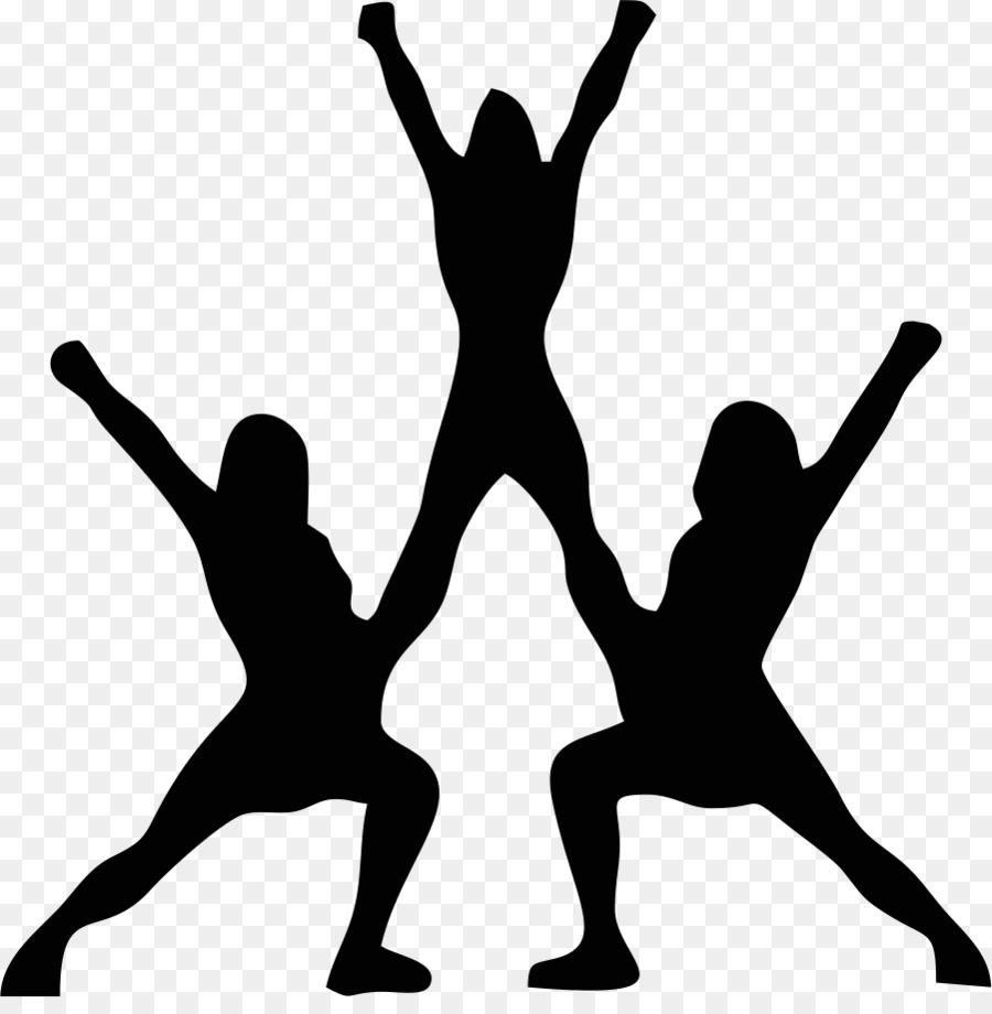 Cheerleading silhouette at getdrawings. Cheer clipart stunt
