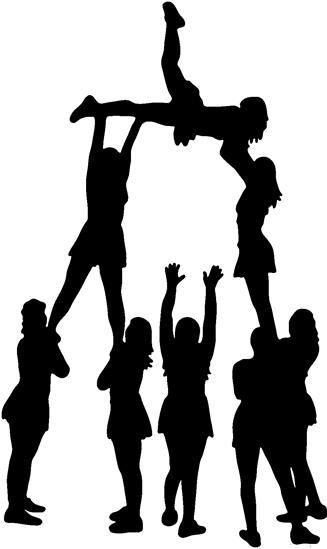 Free download cheerleader pyramid. Cheer clipart stunt