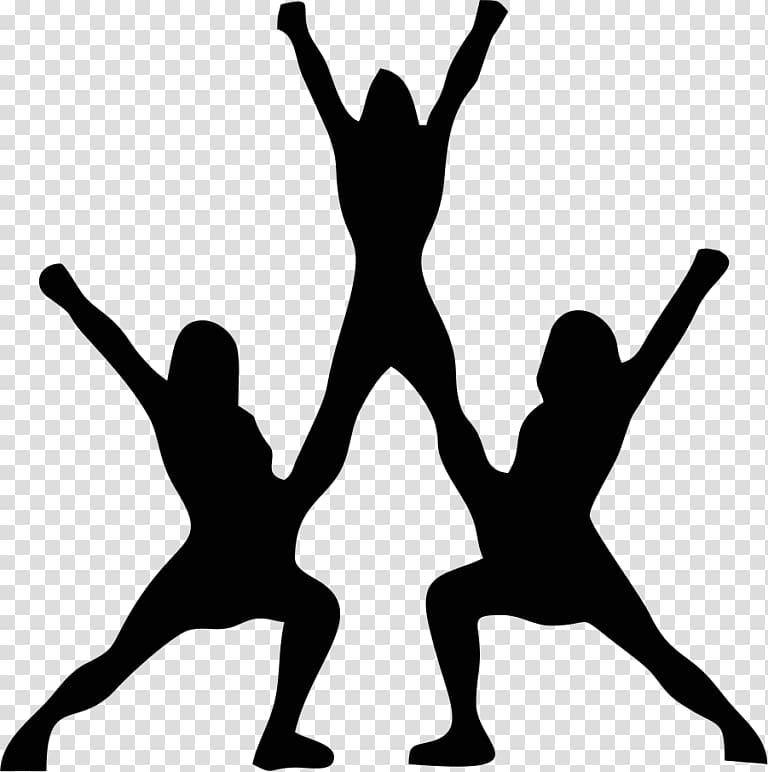 Cheer clipart stunt. Cheerleading silhouette sport transparent