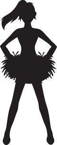 Megaphone silhouette free cricut. Cheerleader clipart svg