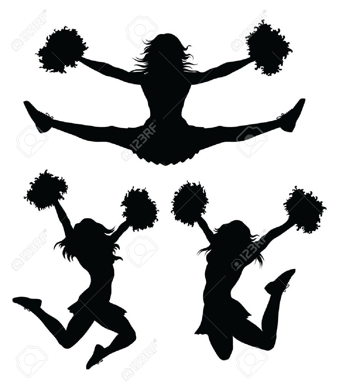 Cheer clipart toe touch. Silhouette at getdrawings com