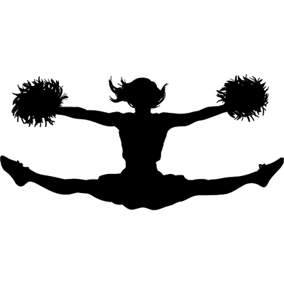 Cheer clipart transparent background. Cheerleading png stickpng