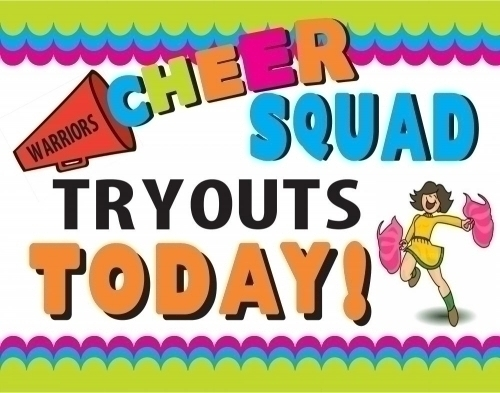 Cheer clipart tryout. Create a poster about