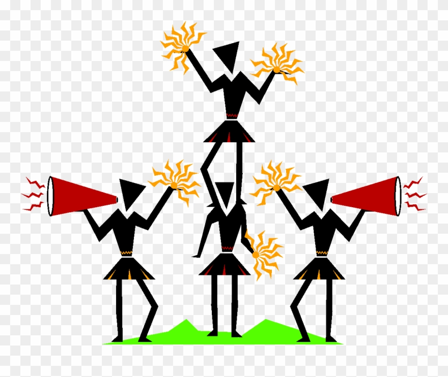 Cheer clipart tryout. Cheerleader cheering team clip