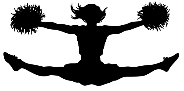 Cheer clipart vector. Cheerleading png jumps transparent
