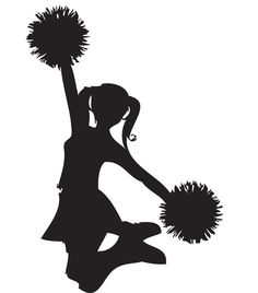 Free cheerleading group cheer. Cheerleader clipart outline