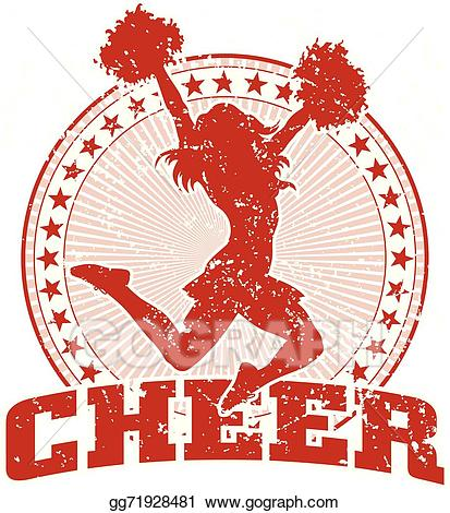 Cheer clipart vintage. Vector art design drawing