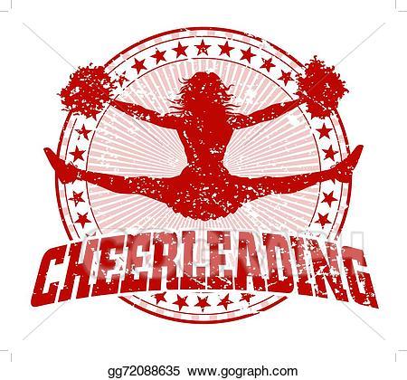 Clip art vector cheerleading. Cheer clipart vintage