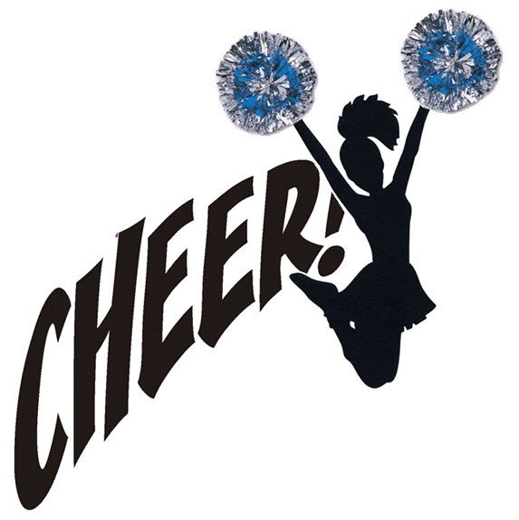 Cheerleading clipart. Free cheer image silhouette