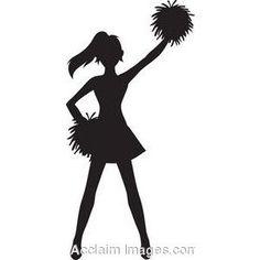 Free cheer sillohette clip. Cheerleader clipart