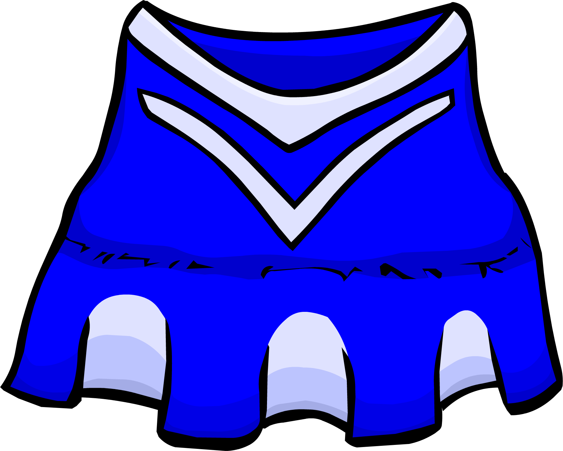 Cheerleader outfit club penguin. Clipart backpack blue item