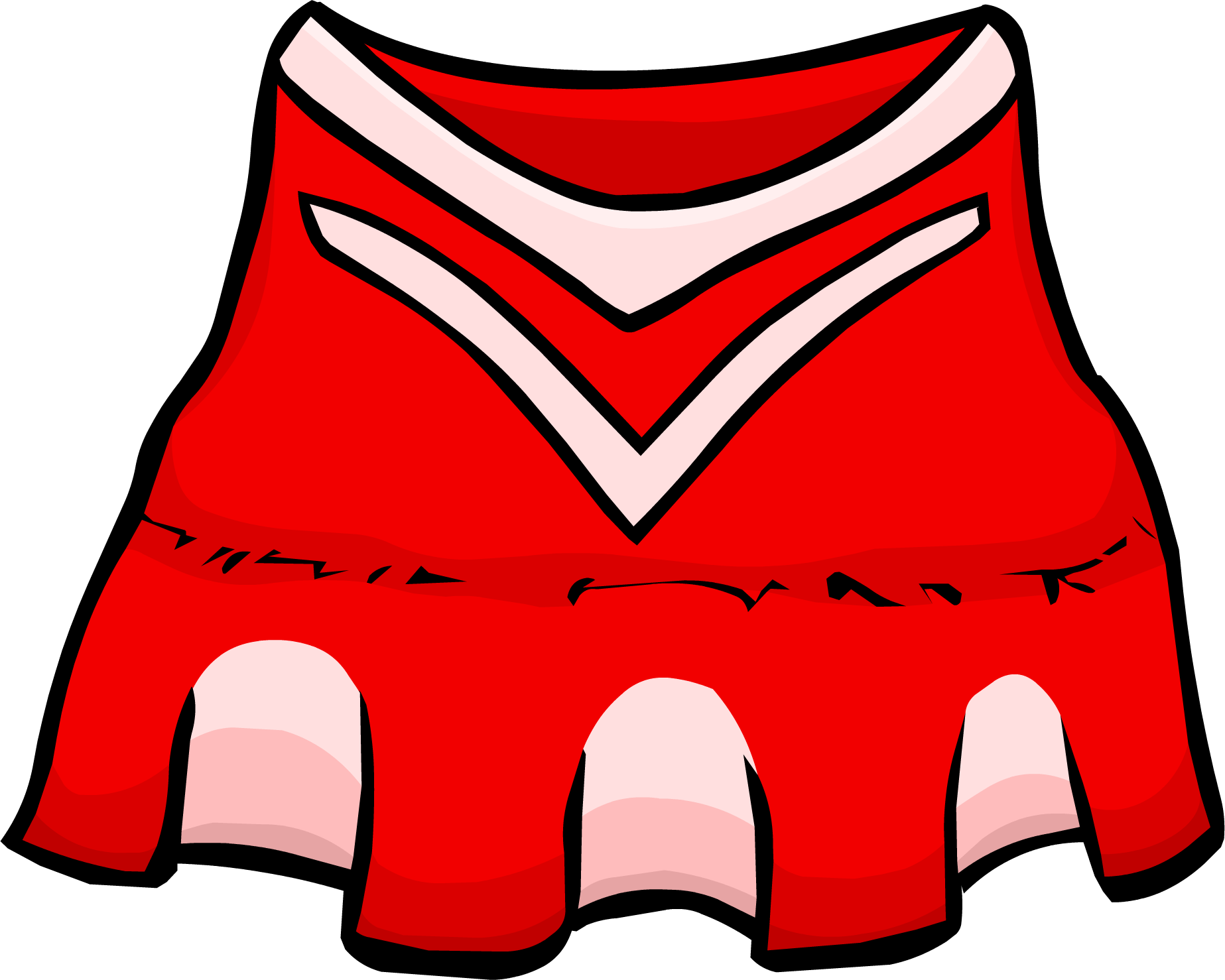 Cheer clipart clothes. Red cheerleader outfit club