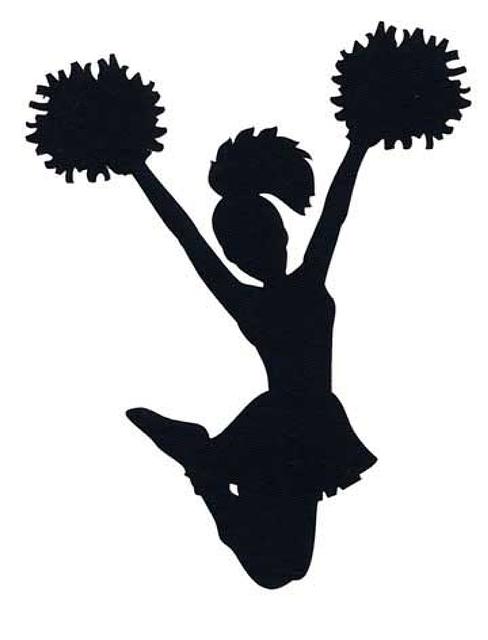 Cheerleading silhouette sport clip. Cheerleader clipart elementary