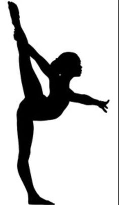 Gymnastics silhouette custom wall. Cheer clipart gymnast