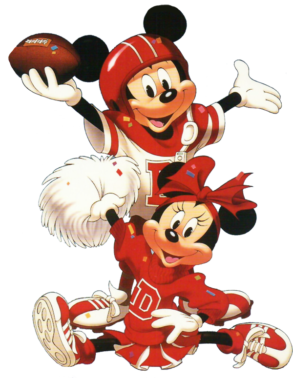 Clipart football mickey. Minnie mouse cross stich