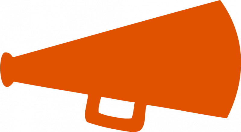 Orange . Megaphone clipart